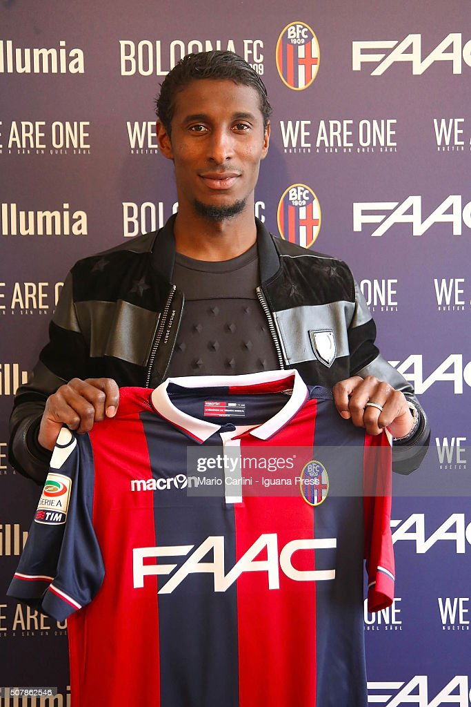 Bologna FC unveils new signing <a gi-track='captionPersonalityLinkClicked' href=/galleries/search?phrase=Kevin+Constant&family=editorial&specificpeople=3033289 ng-click='$event.stopPropagation()'>Kevin Constant</a> on February 1, 2016 in Bologna, Italy.