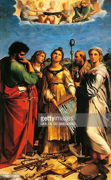 Bologna Pinacoteca Nazionale Di Bologna The Ecstasy of St Cecilia 1514 circa by Raphael Sanzio oil on canvas 239x149 cm