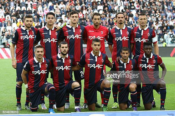 Bologna Team poses in order to be photographed during the Serie A football match n7 JUVENTUS BOLOGNA on 04/10/15 at the Juventus Stadium in Turin...