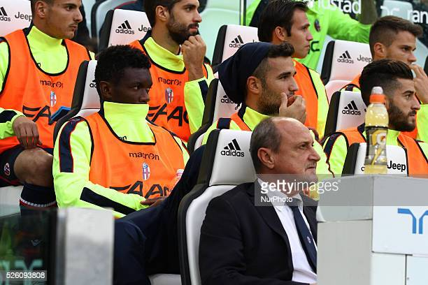Bologna Team waits on the bench during the Serie A football match n7 JUVENTUS BOLOGNA on 04/10/15 at the Juventus Stadium in Turin Italy Copyright...