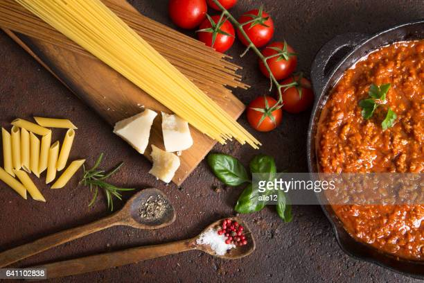 Bolognese Spaghetti Ingredients