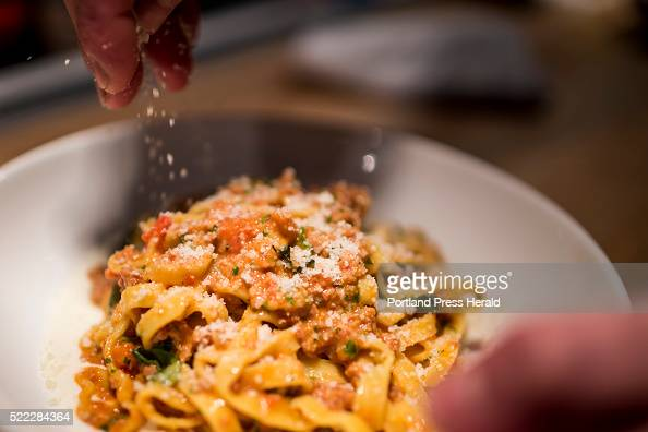 Bolognese with tagliatelle fonduta and basil photographed for Dine Out ...