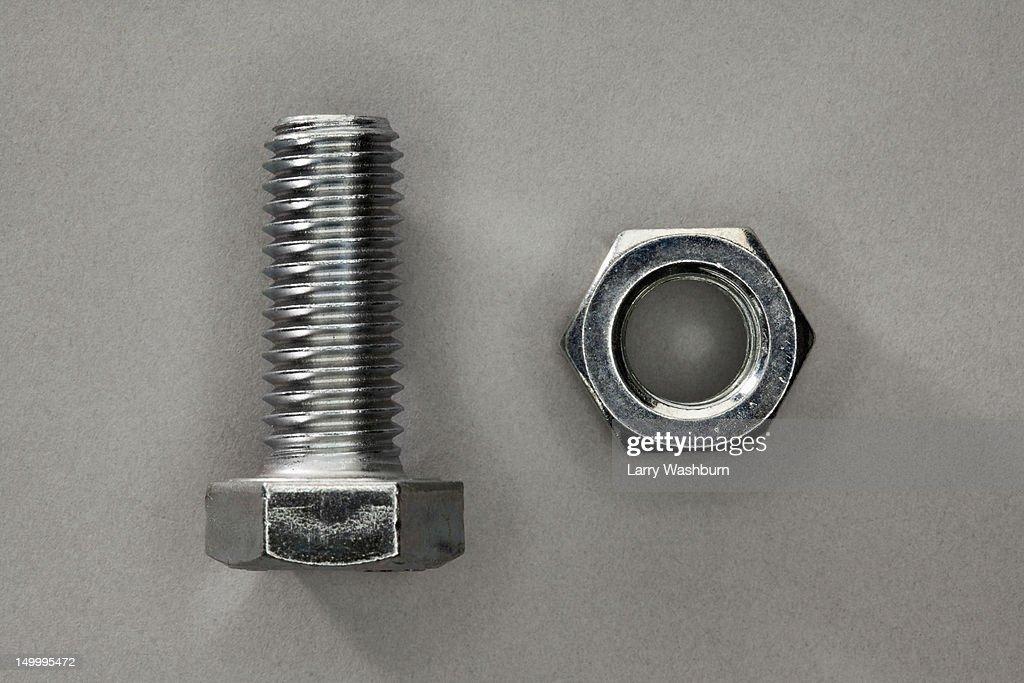 A bolt and a nut