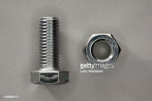 A bolt and a nut