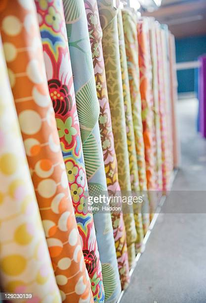 Bolt of Colorful Fabric in Craft Store