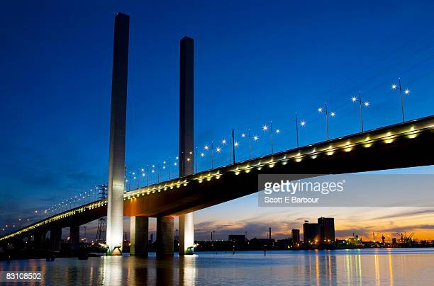 Bolte Bridge at dusk.