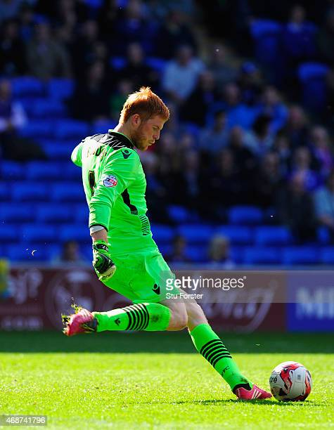Bolton goalkeeper Adam Bogdan in action during the Sky Bet Championship match between Cardiff City and Bolton Wanderers at Cardiff City Stadium on...