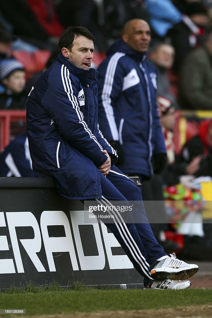 Bolton manager <a gi-track='captionPersonalityLinkClicked' href=/galleries/search?phrase=Dougie+Freedman&family=editorial&specificpeople=710974 ng-click='$event.stopPropagation()'>Dougie Freedman</a> looks on during the npower Championship match between Charlton Athletic and Bolton Wanderers at the Valley on March 30, 2013 in London, England.