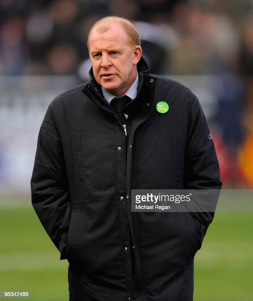 Bolton manager Gary Megson looks on during the Barclays Premier League match between Burnley and Bolton Wanderers at Turf Moor on December 26 2009 in...