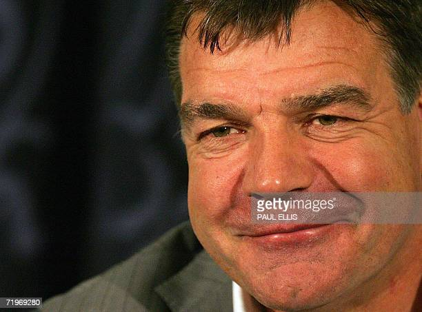 Bolton football team manager Sam Allardyce gives a press conference 22 September 2006 at the Reebok Stadium in Bolton northwest England Allardyce was...