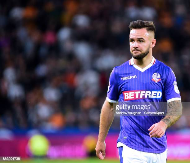 Bolton Wanderers' Adam Armstrong during the Sky Bet Championship match between Hull City and Bolton Wanderers at KCOM Stadium on August 25 2017 in...