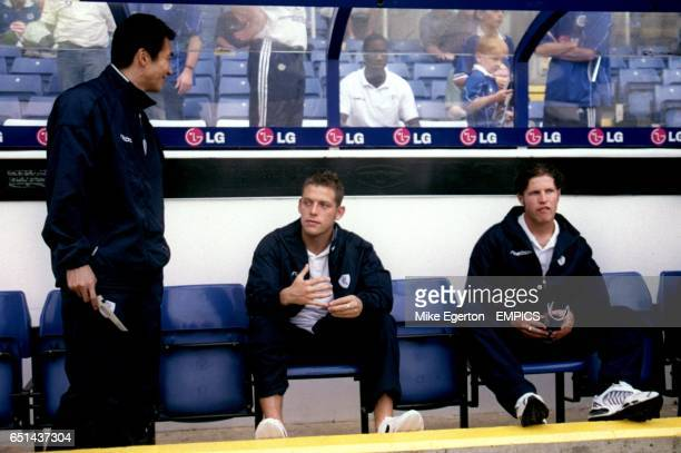 Bolton Wanderers' Akinori Nishizawa sits in the dug out before the game
