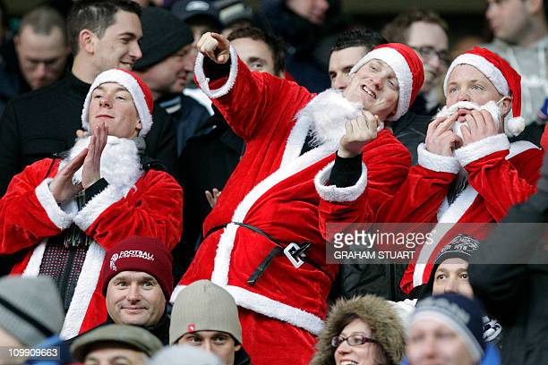 Bolton Wanderers' fans wearing fancy dress in the crowd during the English Premier League football match between Sunderland and Bolton Wanderers at...