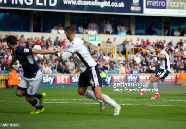 Bolton Wanderers' Filipe Morais scores his sides equalising goal to make the score 11 during the Sky Bet Championship match between Millwall and...