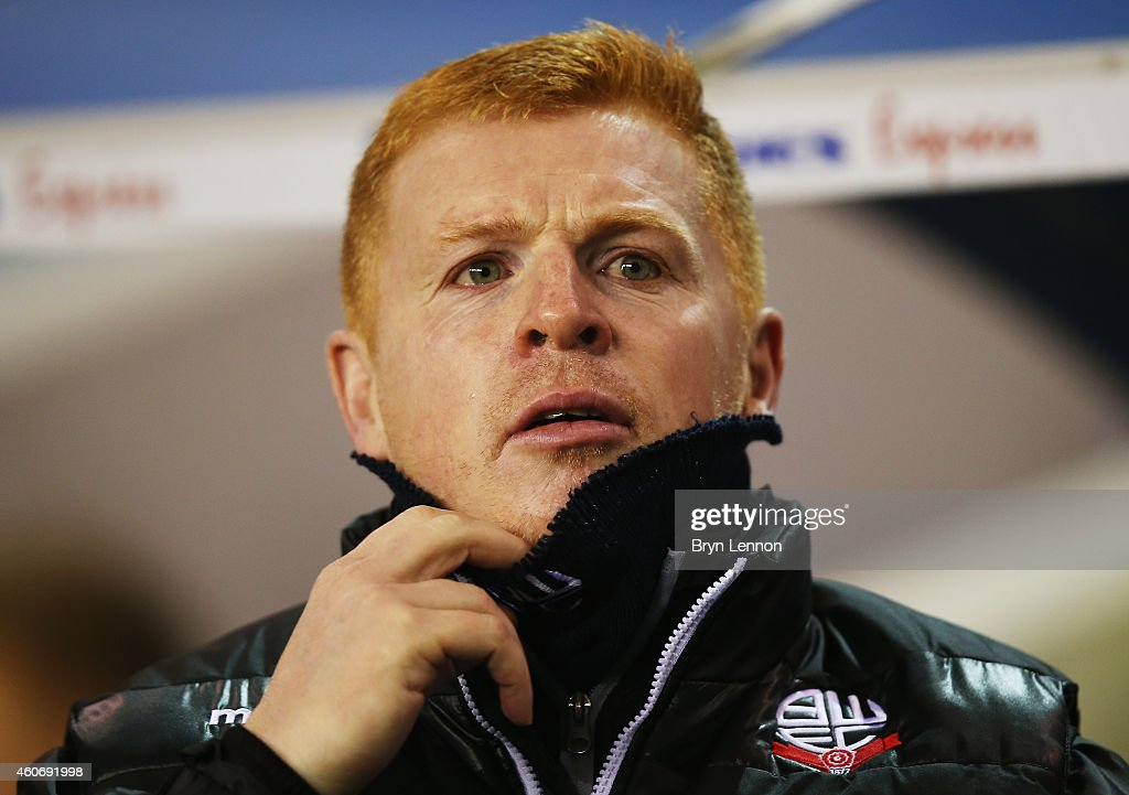Bolton Wanderers Manager Neil Lennon looks on prior to the Sky Bet Championship match between Millwall and Bolton Wanderers at The Den on December 19...