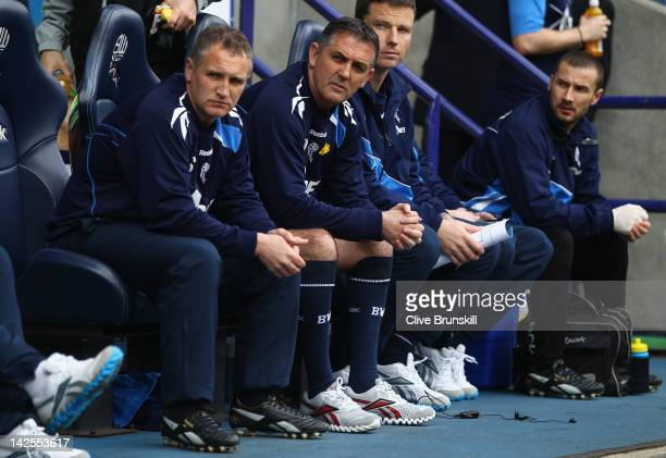Bolton Wanderers manager Owen Coyle during the Barclays Premier League match between Bolton Wanderers and Fulham at Reebok Stadium on April 7 2012 in...