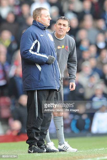 Bolton Wanderers' manager Owen Coyle shouts at fourth official Trevor Kettle on the touchline