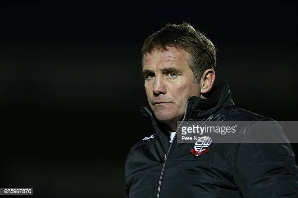 Bolton Wanderers manager Phil Parkinson looks on during the Sky Bet League One match between Northampton Town and Bolton Wanderers at Sixfields on...