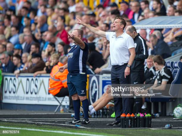 Bolton Wanderers manager Phil Parkinson shouts instructions to his team from the technical area during the Sky Bet Championship match between...