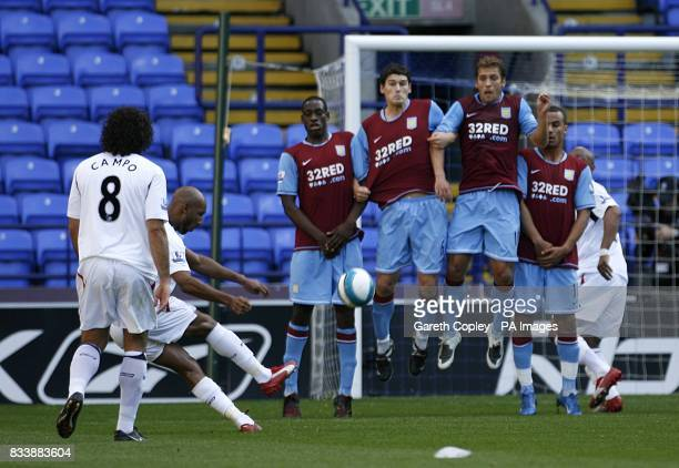 Bolton Wanderers' Nicolas Anelka scores his sides first goal of the game from a free kick
