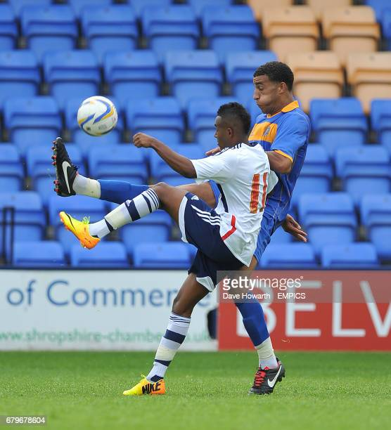 Bolton Wanderers' Rob Hall and Shrewsbury Town's Connor Goldson