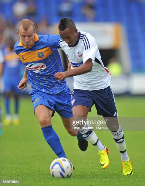 Bolton Wanderers' Rob Hall and Shrewsbury Town's Luke Summerfield
