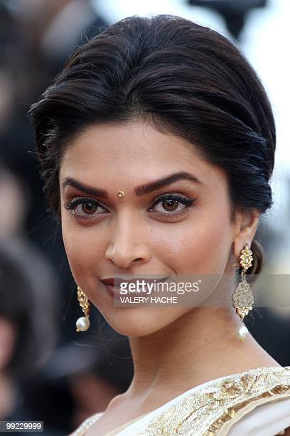 Bolywood actress Deepika Padukone arrives for the screening of the film 'Tournee' presented in competiton at the 63rd Cannes Film Festival on May 13...