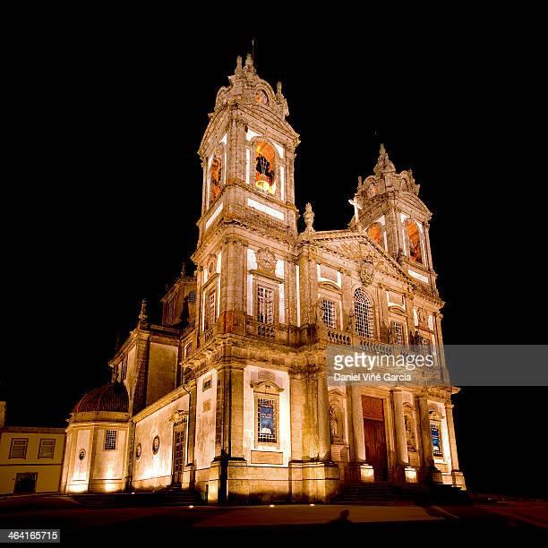 Bom Jesus do Monte at night