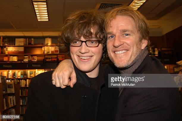 Boman Modine and Matthew Modine attend Matthew Modine Book Signing for FULL METAL JACKET DIARY at Barnes Noble Book Store on January 4 2006 in New...