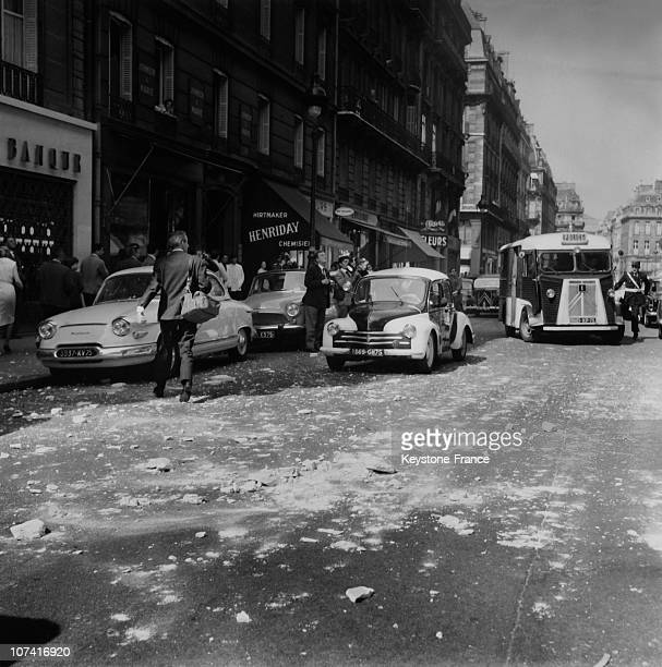 Bomb Attack At France Observateur Newspapers At Opera Avenue In Paris On May 1961