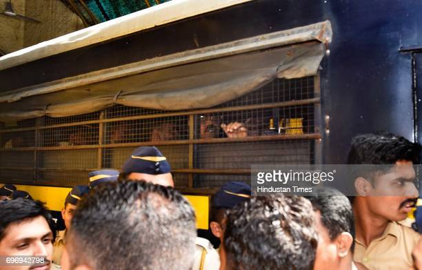 Bomb blast case accused Mustafa Dossa being taken to Arthur Road jail from Session court on June 16 2017 in Mumbai India A Special Terrorism and...