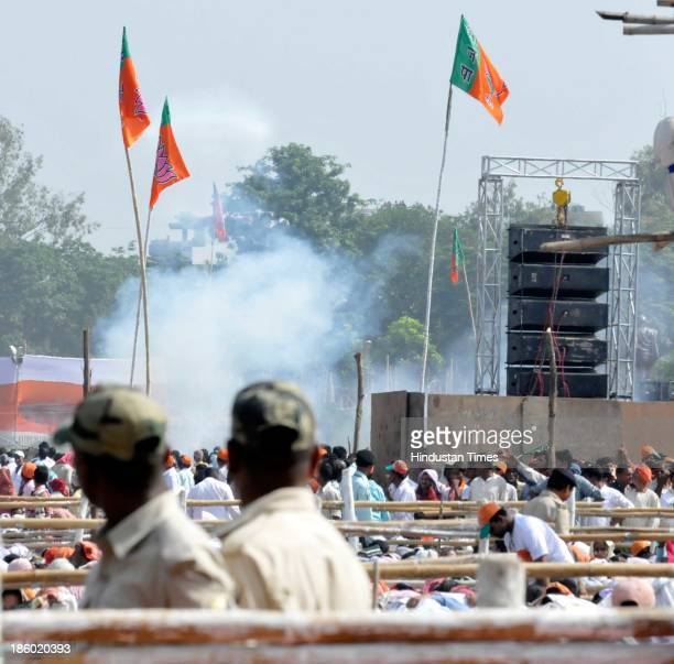 Bomb blasts took place at the venue of Narendra Modi's Hunkar rally near Gandhi Maidan on October 27 2013 in Patna India Five people were killed and...