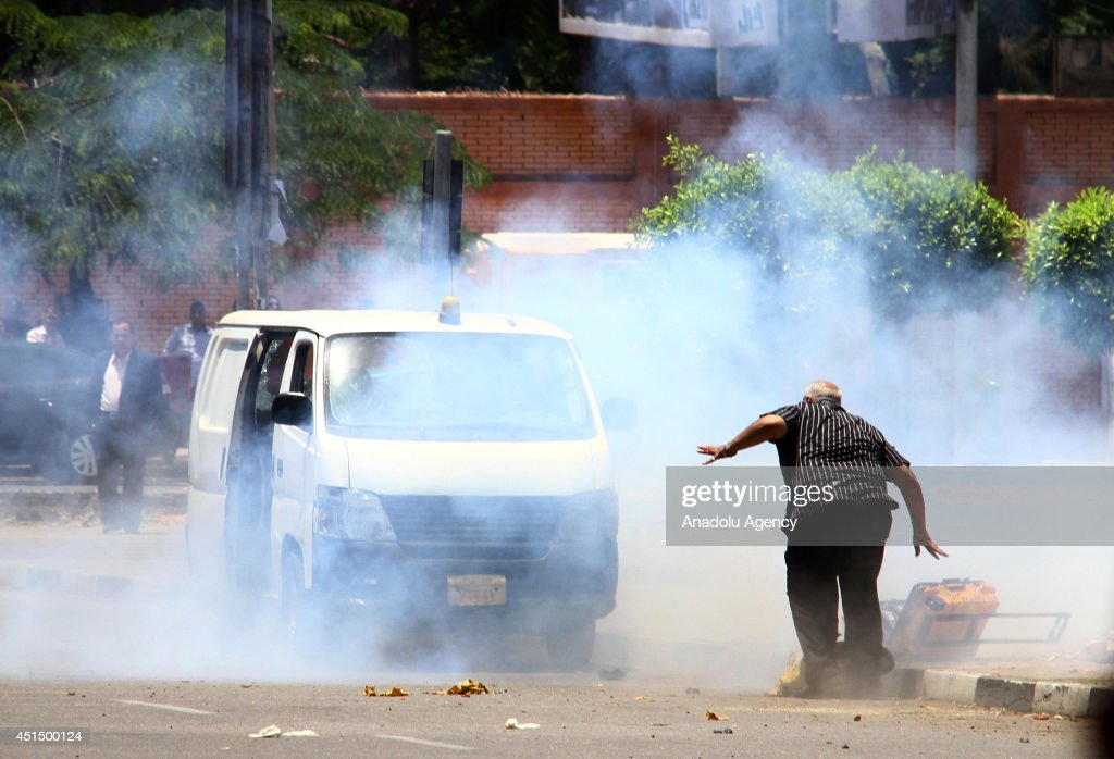 Bomb explosion occured while bomb-dismantling specialist try to defuse the bomb near the presidential palace in Cairo, Egypt on 30 June, 2014. Bomb -dismantling specialist died on the explosion. Agnad Misr, officially designated a terrorist organisation in May 2014 by an Egyptian court, claims responsibility for the attack.