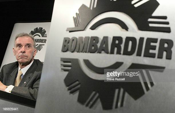 BOMBARDIER04/03/03Paul Tellier president and CEO of Bombardier Inc held a news conference to present the company's latest financial results in...