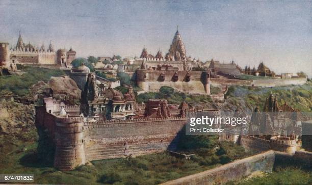 Bombay Hundred of Jain shrines set in walled enclosures and lining the silent streets make the northern and southern summits of Satrunjaya the Holy...