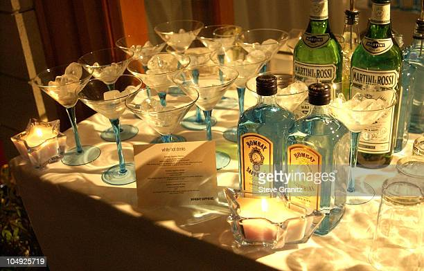 Bombay Sapphire martini bar during Women's Wear Daily The Ultimate Fashion Authority Hosted 'White Hot Diamonds' The Exclusive PreOscar Fashion Event...