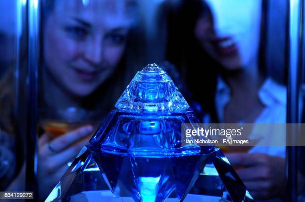 Bombay Sapphire's Revelation one of five handmade crystal bottles individually decorated with sapphires and diamonds and priced at 100000 each is...