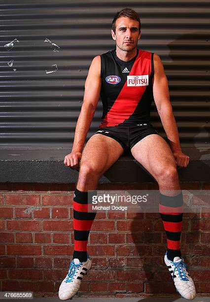Bombers captain Jobe Watson poses during the 2014 AFL Season Launch at Adelaide Oval on March 5 2014 in Adelaide Australia