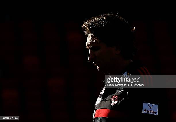 Bombers head coach James Hird looks on before the round 19 AFL match between the Greater Western Sydney Giants and the Essendon Bombers at Spotless...