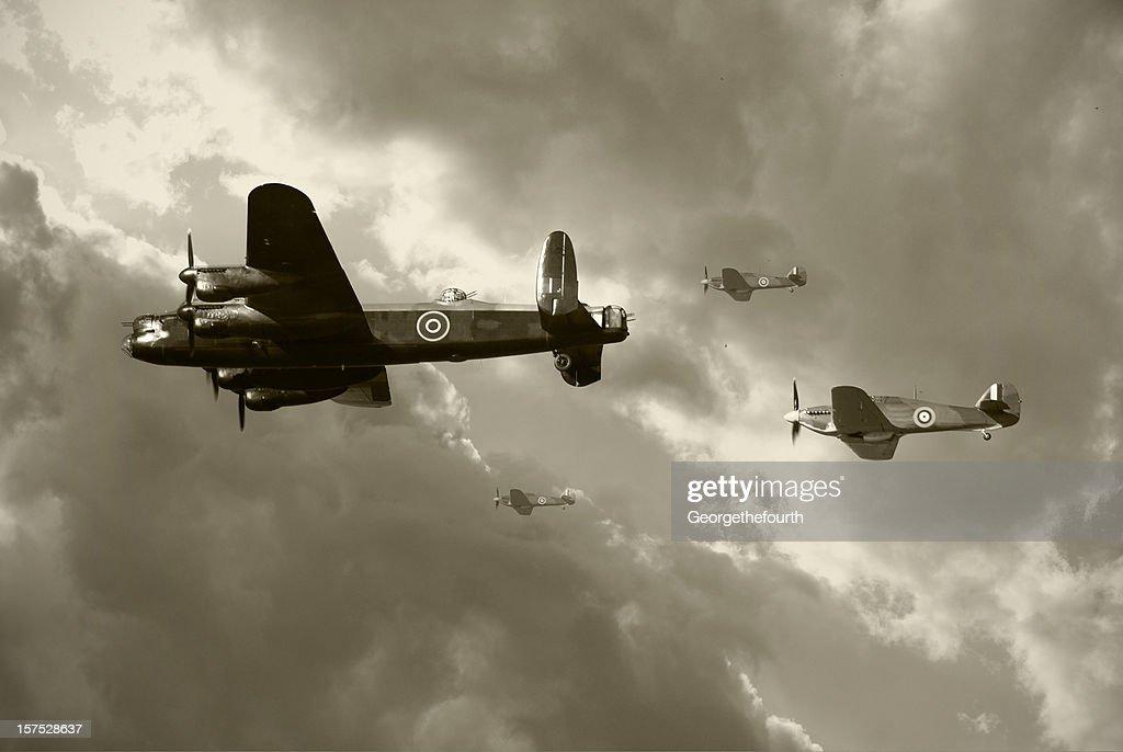 Bombing run in World War 2