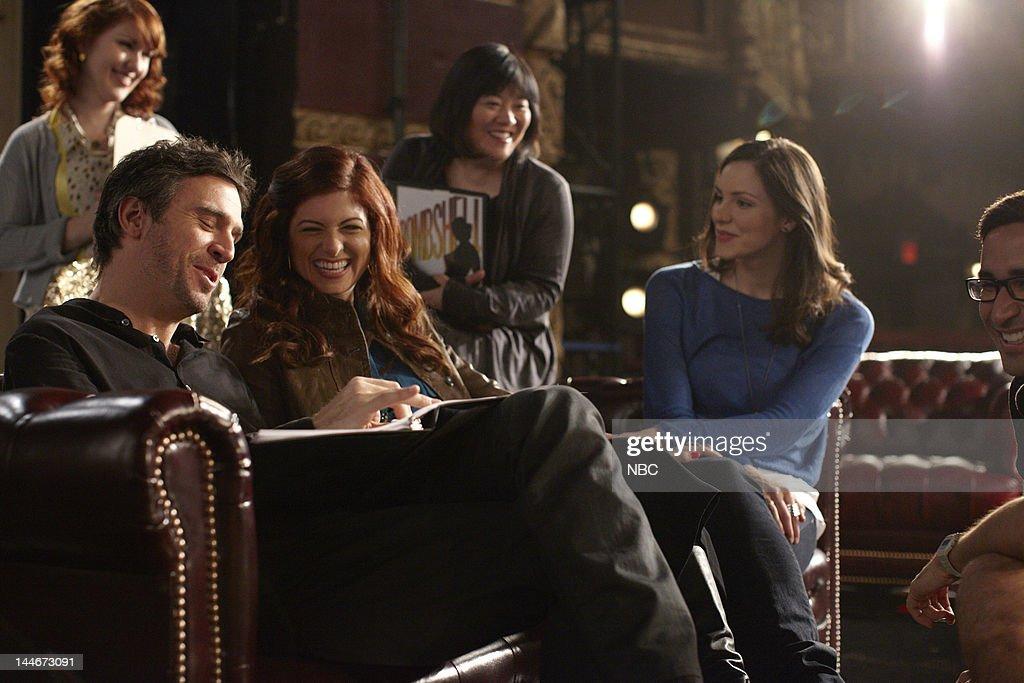 SMASH 'Bombshell' Episode 115 Pictured Jack Davenport as Derek Wills Debra Messing as Julia Houston Ann Harada as Linda Katharine McPhee as Karen...