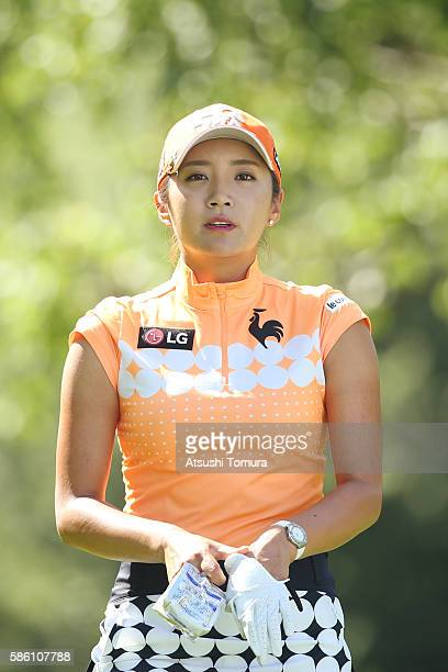 BoMee Lee of South Korea looks on during the first round of the meiji Cup 2016 at the Sapporo Kokusai Country Club on July 31 2016 in Narusawa Japan