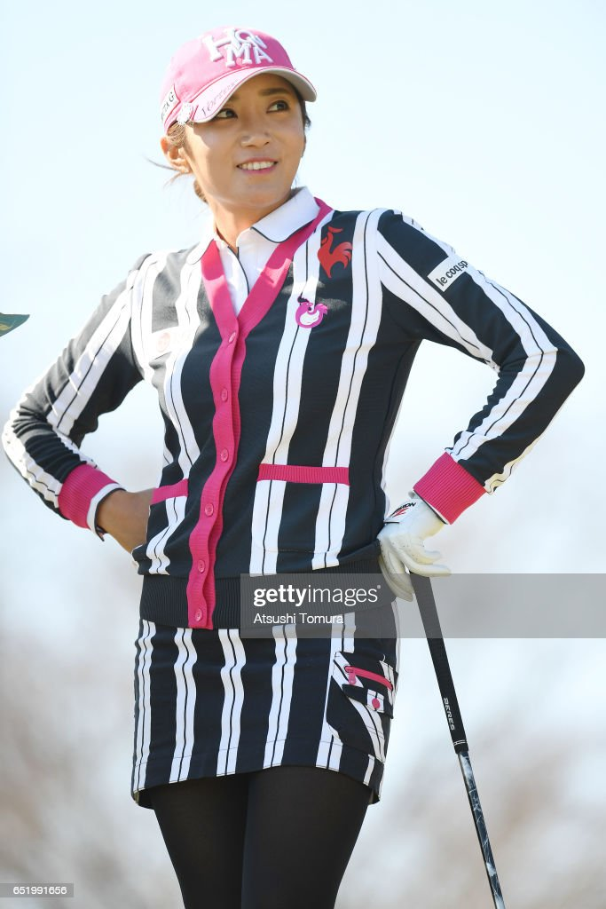 Bo-Mee Lee of South Korea looks on during the second round of the Yokohama Tire PRGR Ladies Cup at the Tosa Country Club on March 11, 2017, Konan, Japan.