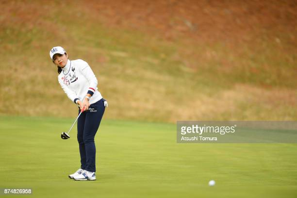 BoMee Lee of South Korea putts on the 13th hole during the first round of the Daio Paper Elleair Ladies Open 2017 at the Elleair Golf Club on...