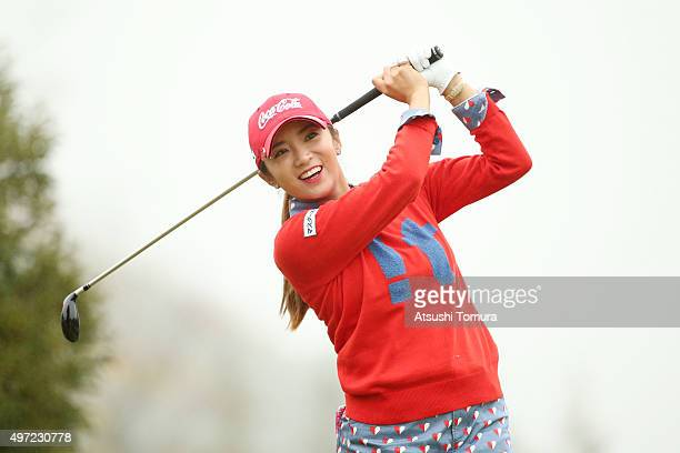BoMee Lee of South Korea smiles during the final round of the Itoen Ladies Golf Tournament 2015 at the Great Island Club on November 15 2015 in...