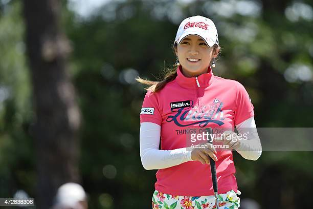BoMee Lee of South Korea smiles during the World Ladies Championship Salonpas Cup at the Ibaraki Golf Club on May 10 2015 in Tsukubamirai Japan