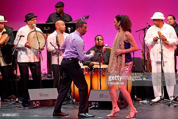 BomPlenazo Artists Collective performing at Main Theater at Hostos Community College on Saturday night October 11 2014This imageIn foreground Nelson...