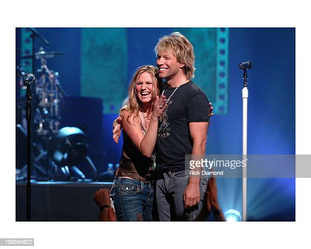 Bon Jovi and Sugarland during CMT Taping of Crossroads featuring Bon Jovi and Sugarland at The Mannhattan Center in New York New York United States