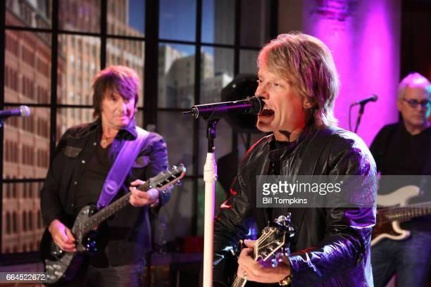 Bon Jovi appears on the TV show PRIVATE SESSIONS on November 10 2010 in New York City