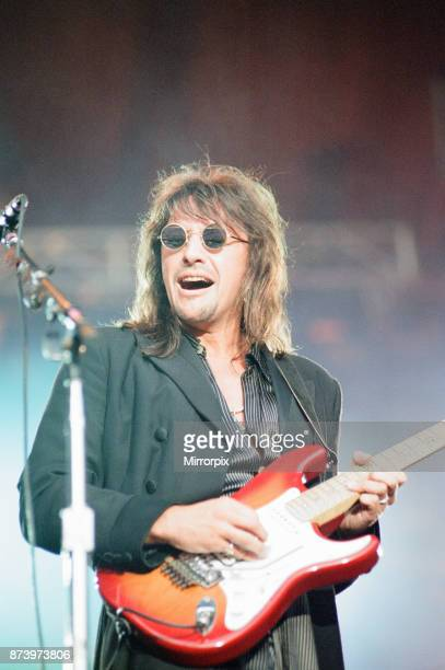 Bon Jovi in Concert These Days Tour National Stadium Cardiff Arms Park Cardiff Wales Wednesday 21st June 1995 our picture shows lead guitarist Richie...
